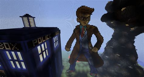 10th doctor pixel art minecraft david tennant doctor who minecraft project