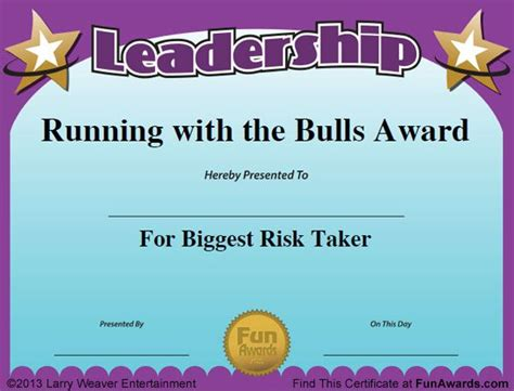 Funny Awards For Employees Pinteres Employee Award Template