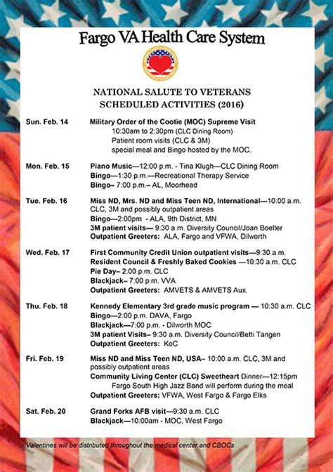 national salute to veterans week fargo va health care system