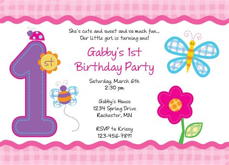 free 1st birthday invitation templates printable birthday invitations templates free