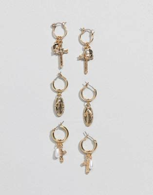 Asos Hoop Earring Pack asos design asos design pack of 3 hoop earrings with