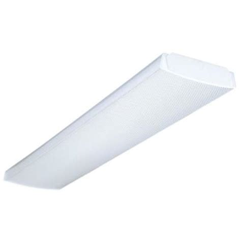 4 Foot Fluorescent Light Fixture Cover Lithonia Lighting 4 Ft 4 Light Fluorescent Wraparound Lens Ceiling Fixture Lb 4 32 120 1 4 Gesb
