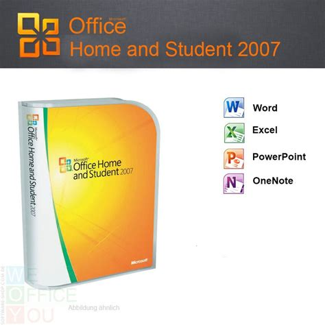 Microsoft Office Student microsoft office home and student 2007 3 pc cd nicht kommerziell