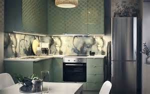 Single Kitchen Cabinets Keep It Clean In Calming Green Ikea