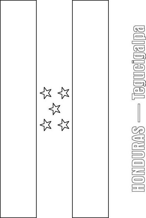 Honduras Flag Coloring Page Download Free Honduras Flag Honduras Flag Coloring Page