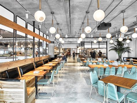 corporate food court design avroko spearheads dropbox hq s cafeteria and coffee bar