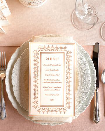 martha stewart wedding program template program menu and stationery templates martha stewart
