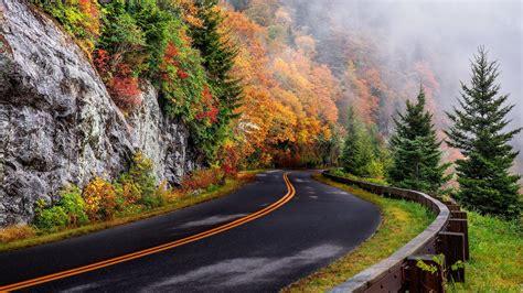 fall mountain road hd wallpaper wallpaper studio