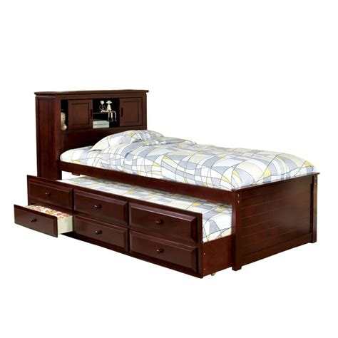 trundle twin bed venetian worldwide twin lakes captain twin bed w trundle