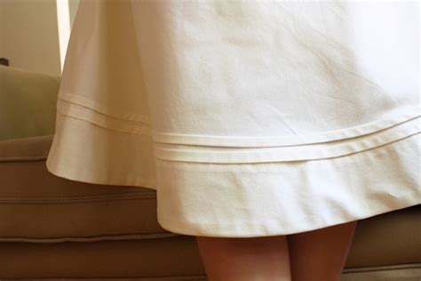 shorten or lengthen a skirt with pleats sewing projects