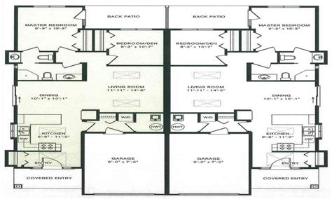Duplex House Plans Free by Purchasing Modern Duplex House Plans Modern House Plan