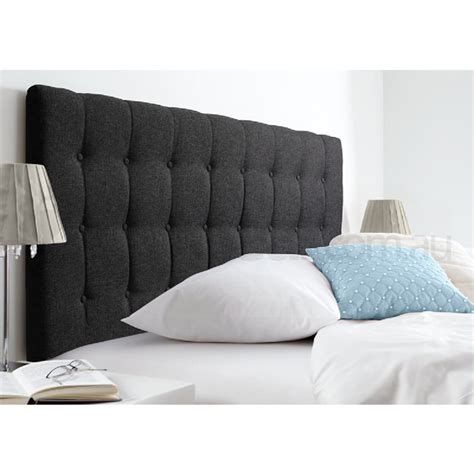 grey upholstered king headboard maddison king fabric upholstered bed head dark grey buy