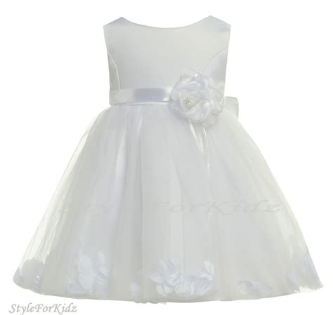 white baby dress baby white dress christening wedding bridesmaid