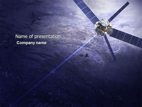 Communication Satellite Powerpoint Template Backgrounds Satellite Ppt Template Free