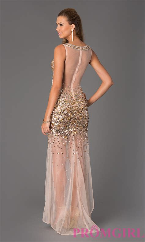 sheer beaded dress sheer beaded jvn by jovani prom dress
