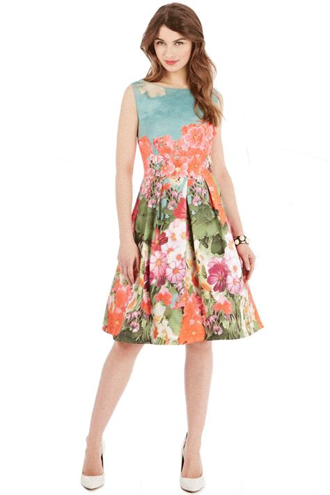 Flower Printed Puffball Skirt For A Summer Garden by Lyst Coast Tammy Printed Ds Dress
