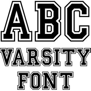 printable varsity font list of synonyms and antonyms of the word varsity fonts