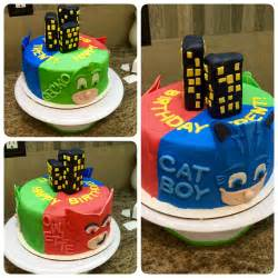 pj masks cake kids birthday cakes pinterest pj mask pj and masking