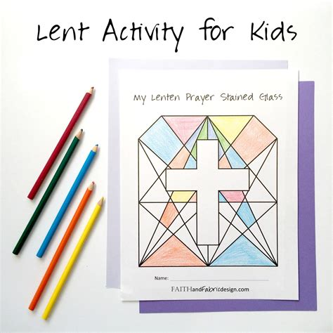 Lenten Promise Card Template by Lent Activity For