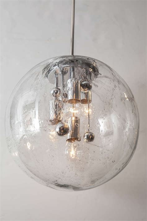 Large Glass Globe Pendant Light Large Glass Globe Pendant By Doria Two Available At 1stdibs