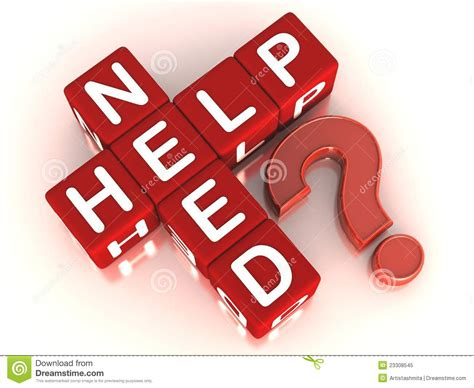 Needs Some Support by Need Help Stock Illustration Image Of Question Support