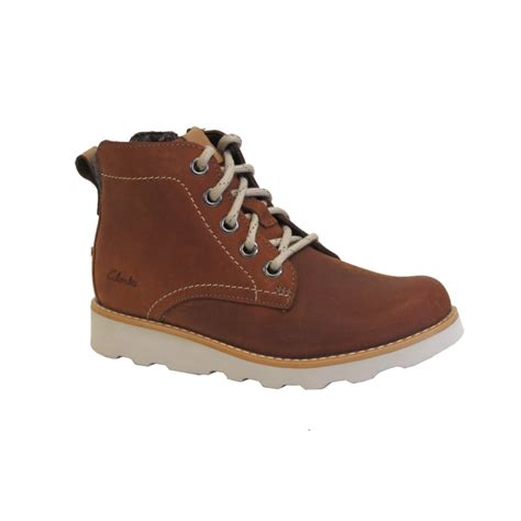 clarks boys boot dexy top inf brown