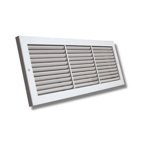 12x6 Soft White Deluxe Baseboard Return Air Grille