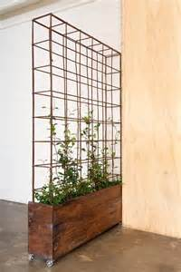 Small Room Divider Dividing Wall Planters And Trellis On