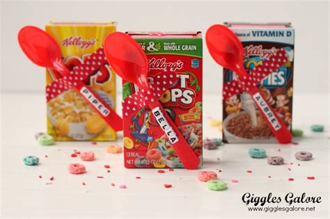 cereal box valentines diy cereal valentines giggles galore