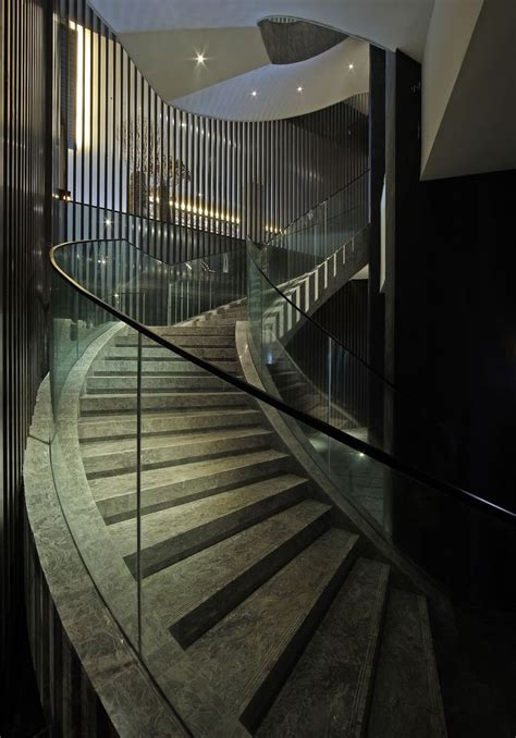 Design Spiral Staircase Sensational Spiral Staircase Offer Green Glass Material Shade With Metal Frame Work With Twist