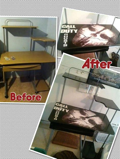 Call Of Duty Bedroom Decor Call Of Duty Desk For A Teen Boy S Room Spray Paint Wood