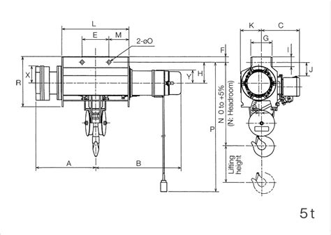 hoist motor specifications specifications dimensions type k hoists products kito