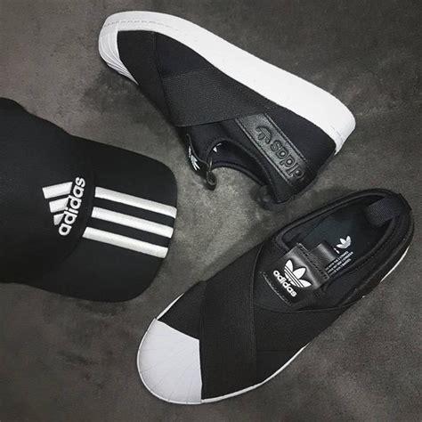 Hombres De Las Adidas Originals Superstar Slip En Entrenador Negro Zapatos P 506 by Tenis Originals Superstar Slip On Mujer