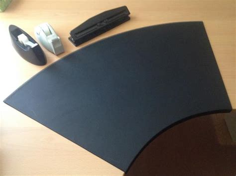 desk top protector leather for curved table surface