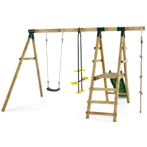 plum wooden swing set plum meerkat wooden swing set all round fun