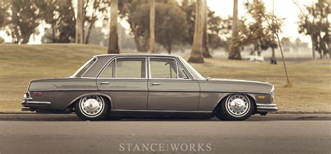 bagged mercedes e class stance works bagged mercedes benz w108