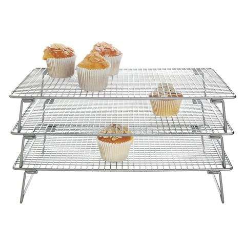 Sale Alumunium Cooling Rack Persegi 40x60cm 3 tier cooling rack 400x250mm all things baking