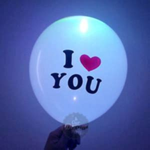 Balon Tulisan I You jual light up balloons balon dengan lu led our
