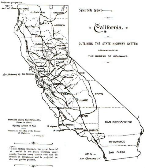 Csu East Bay Mba Road Map by California Highways 1896 The Coast Road