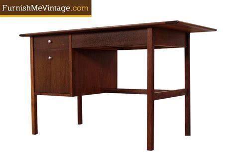 mid century modern walnut desk mid century modern walnut desk