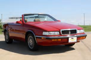 Chrysler Tc By Maserati Value 1989 Chrysler Tc Convertible 2 Seater Coupe By Maserati