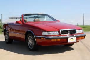 Maserati And Chrysler 1989 Chrysler Tc Convertible 2 Seater Coupe By Maserati