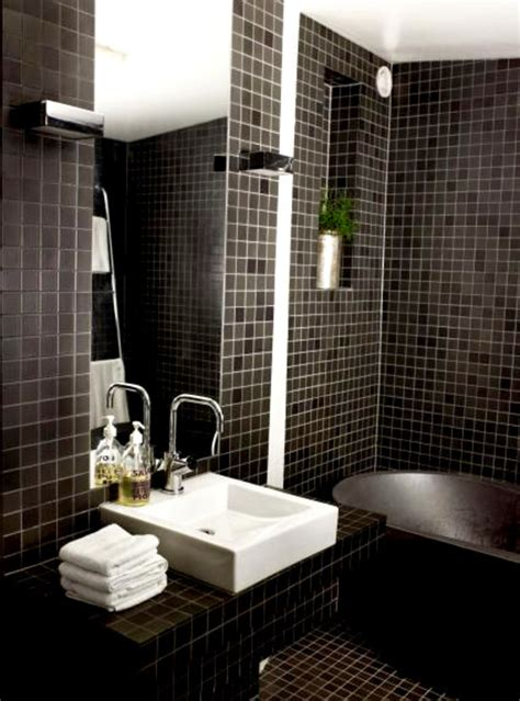black tile bathroom ideas 30 beautiful pictures and ideas high end bathroom tile designs