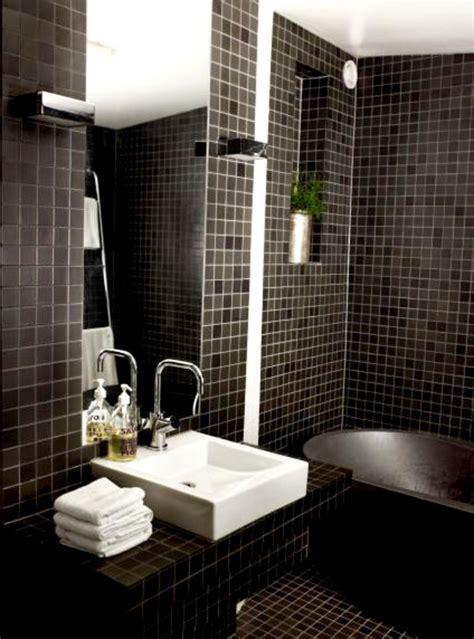 Black Tile Bathroom » Home Design 2017