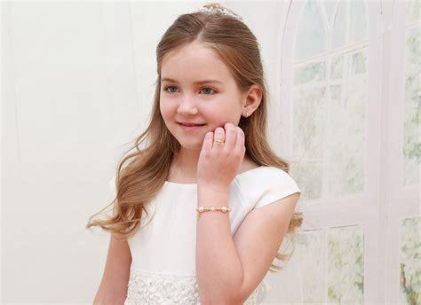 small tiny crystal pearls 14k gold baby children s beaded bracelet