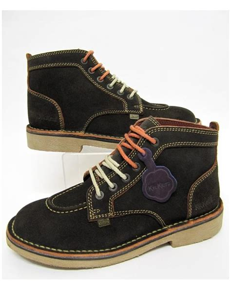 Kickers Casual 05 kickers legendary boots in suede brown legendary mens