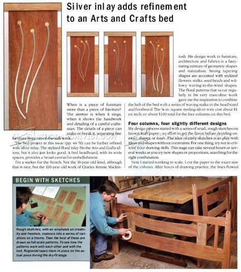 arts  crafts bed plans woodarchivist