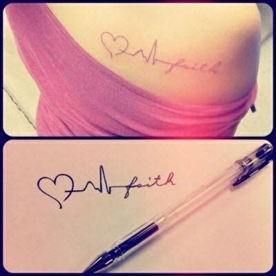 heartbeat tattoo faith heart beat faith tattoo want this but with a different
