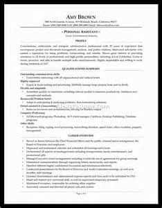 assistant resume sle 28 personal background sle resume 100 personal