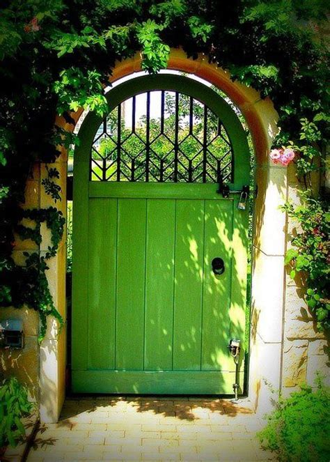 Garden Arch Made From Doors Green And Arched Garden Gate Gardens And Landscapes